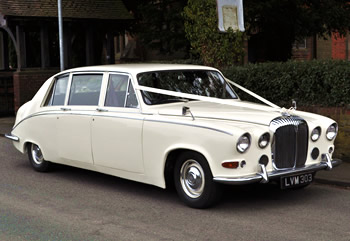 Classic Daimler wedding car for hire Cannock